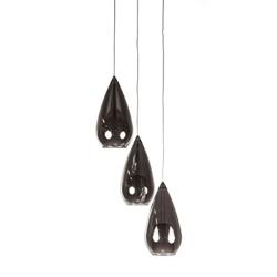 Glazen hanglamp rond en verstelbaar 3-L