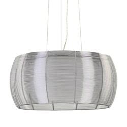Zilveren draadlamp-hanglamp rond 50 cm