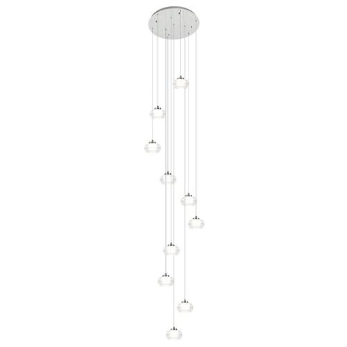 Moderne videlamp chroom met helder glas incl LED