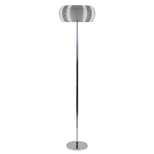 *Moderne draad-vloerlamp zilver-chroom
