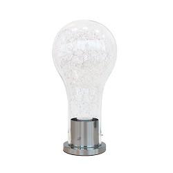 Gloeilamp tafellamp glas chroom modern