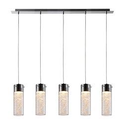 Veelzijdige decoratieve hanglamp glas