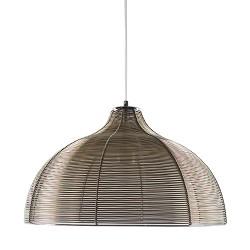 *Trendy hanglamp draad brons-bruin