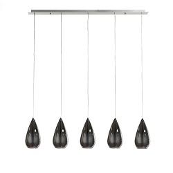 *Glazen eettafel hanglamp 5-L