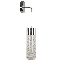 Moderne glazen wandlamp cilinder