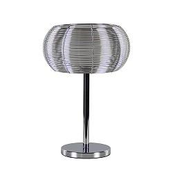 Moderne tafellamp zilver met chroom