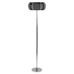 Moderne vloerlamp chroom met zwart
