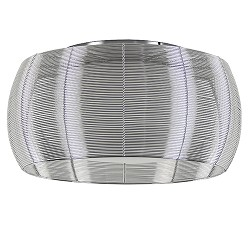 Grote plafondlamp zilver met chroom 50cm
