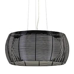 Moderne zwarte hanglamp draad 50cm