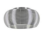 Plafondlamp alu draad/wit glas 40cm