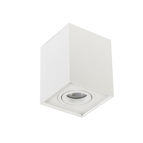 Plafondspot kubus wit verstelbaar gu10