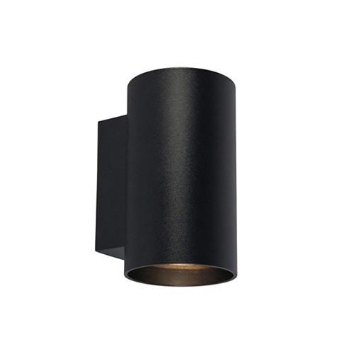 Zwarte wandlamp rond up-en downlighter