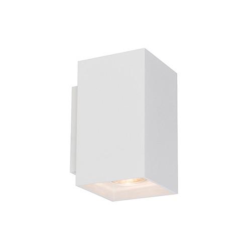Witte wandlamp metaal rechthoek