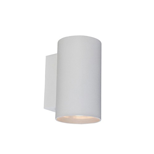 Ronde wandlamp wit up-en downlighter