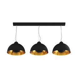 Chique hanglamp 3-lichts zwart met goud