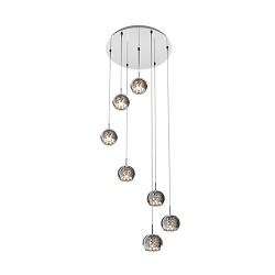*Hanglamp/Videlamp Pearl glas-chroom