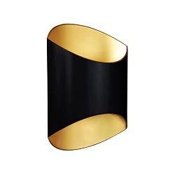 *Design wandlamp zwart goud