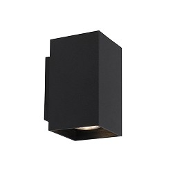 *Wandlamp zwart rechthoek up+down gu10