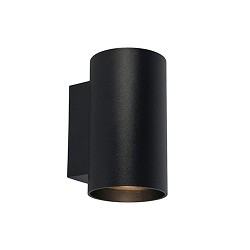 Zwarte wandlamp rond up-en downlighter