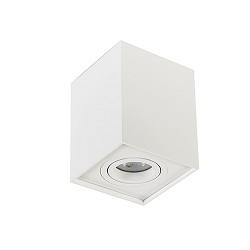 *Plafondspot kubus wit verstelbaar gu10