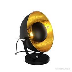 Zwart met gouden tafellamp spot