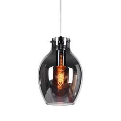 *Kleine glazen hanglamp smokey