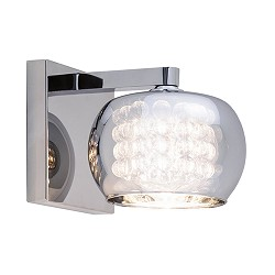 Wandlamp Pearl glas/chroom