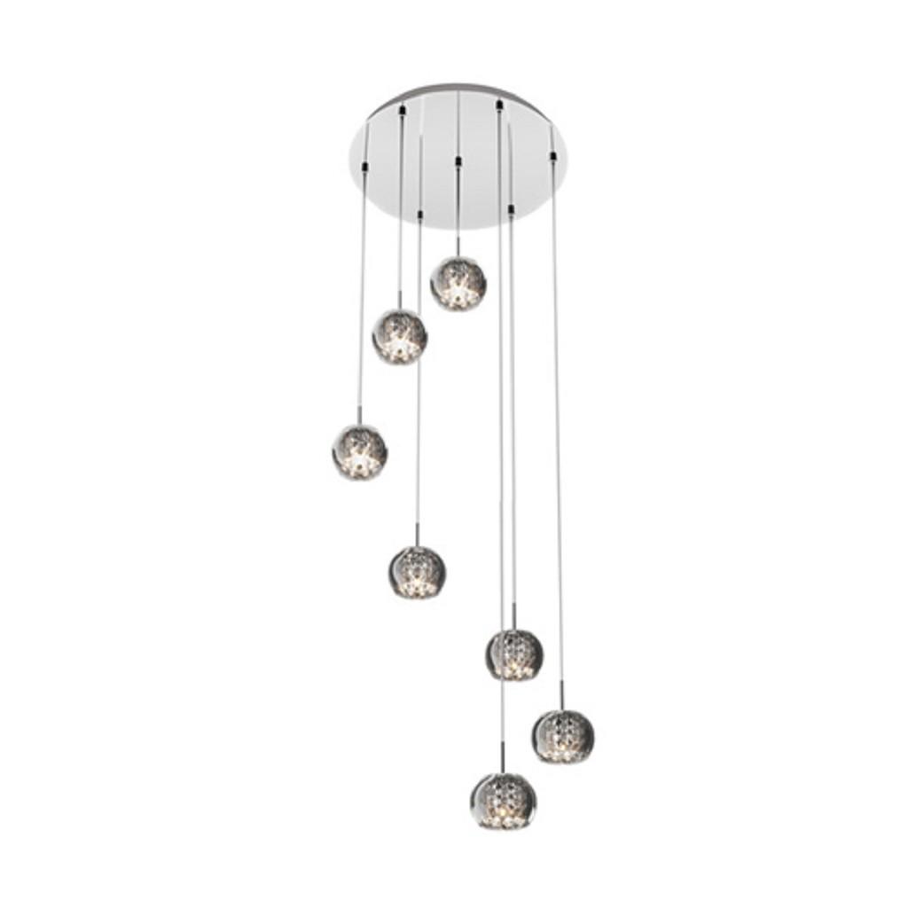 Hanglamp/Videlamp Pearl glas-chroom
