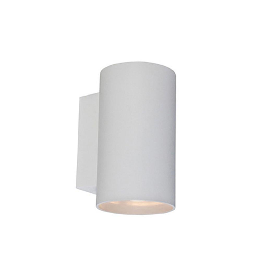 *Ronde wandlamp wit up-en downlighter
