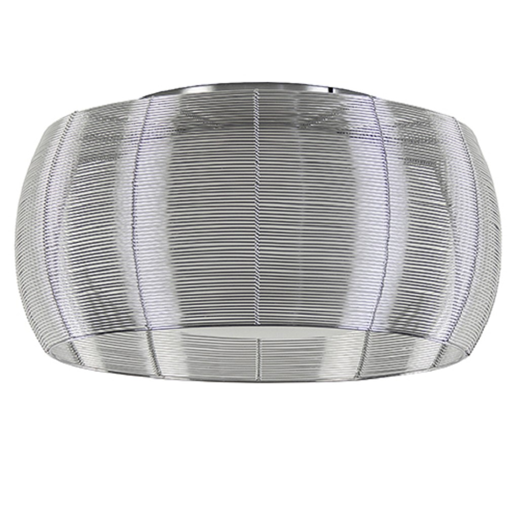 Moderne draad plafondlamp zilver met chroom