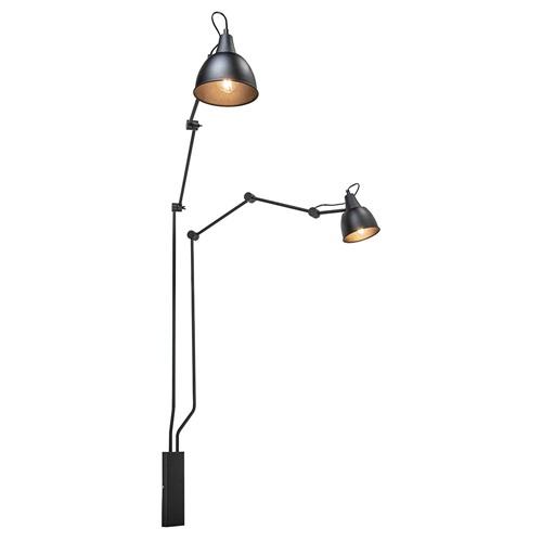 Grote 2-lichts wandlamp met verstelbare armen