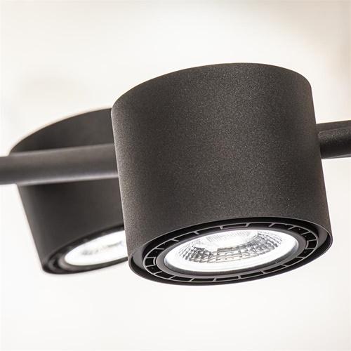 Moderne 4-lichts hanglamp inclusief verstelbare LED spots