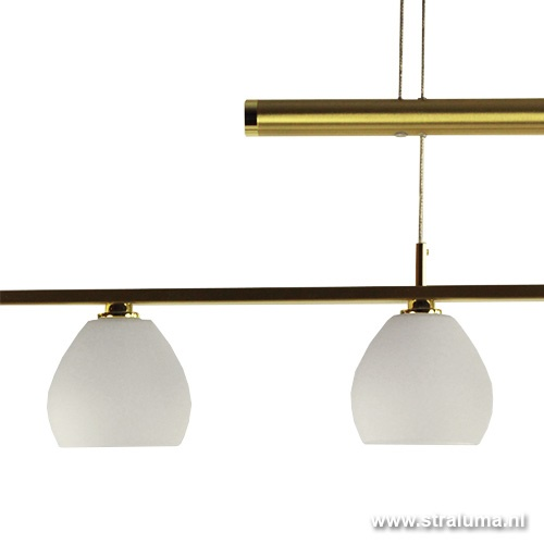 Hanglamp LED messing verstelbaar tafel