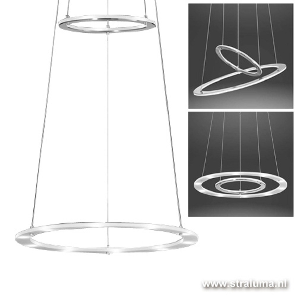 Hanglamp 2 led ringen indirect/direct