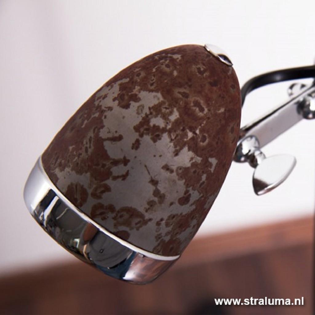 Trendy vloerlamp chroom/roest LED