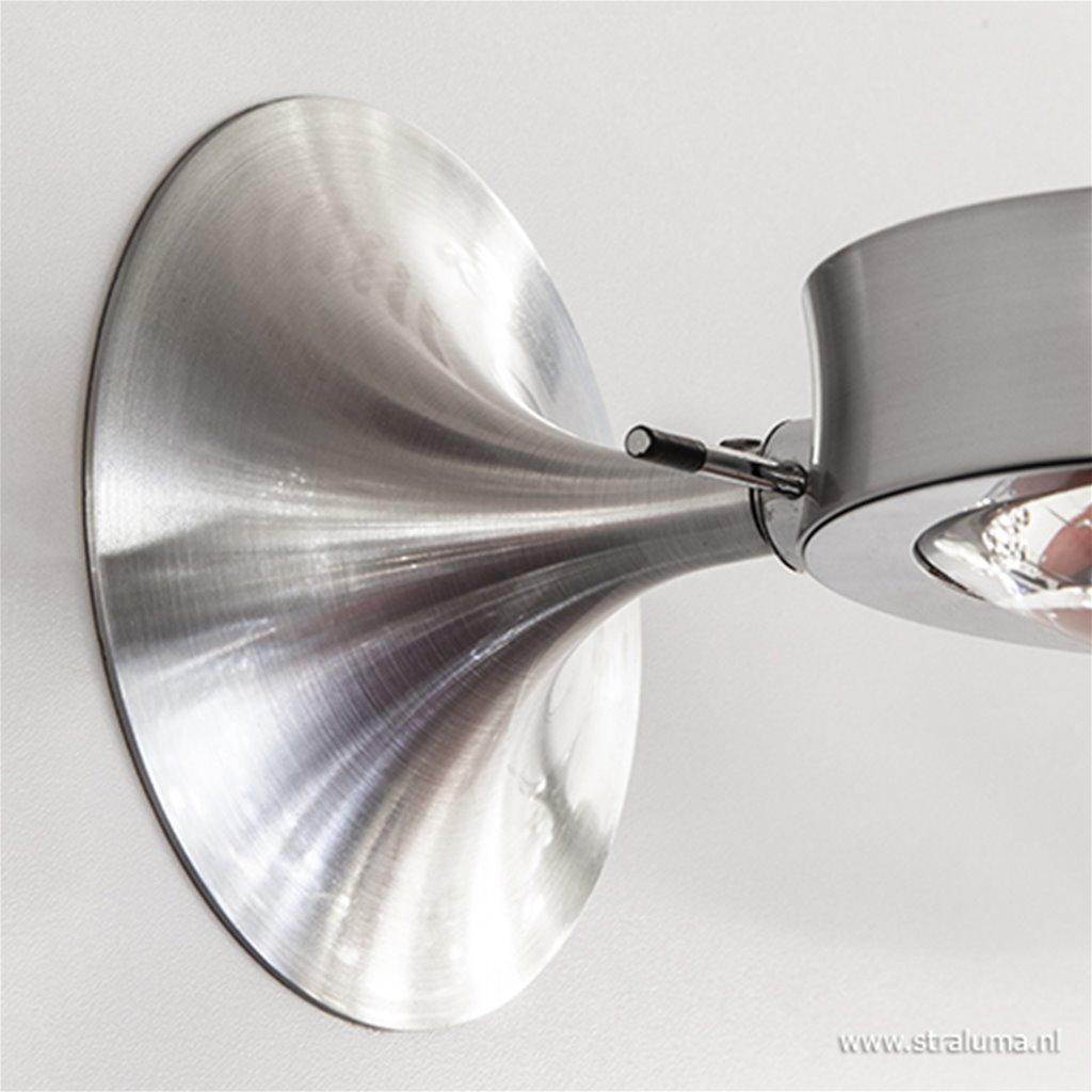 *Design wandlamp aluminium verstelbaar