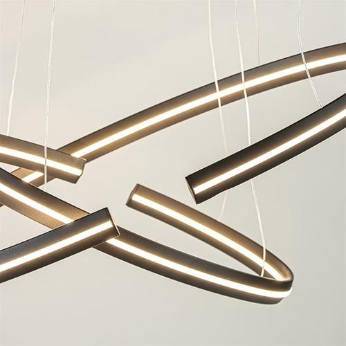 Ovale hanglamp ringen met geïntegreerd LED