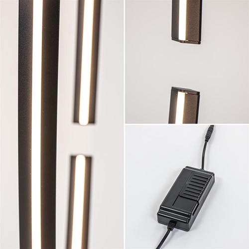 Ovale LED vloerlamp zwart inclusief dimmer