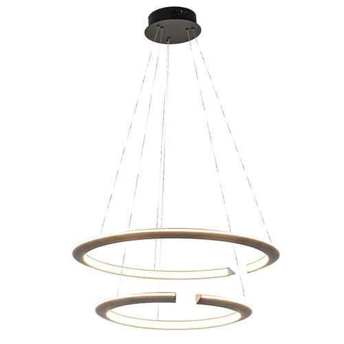 *Hanglamp 2 ringen zwart