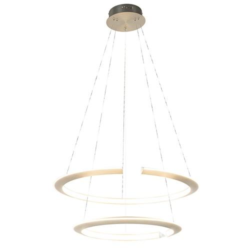 Nikkel design LED hanglamp ringen