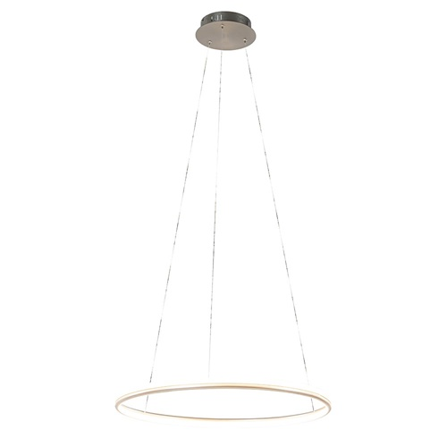 Ronde hanglamp nikkel inclusief LED
