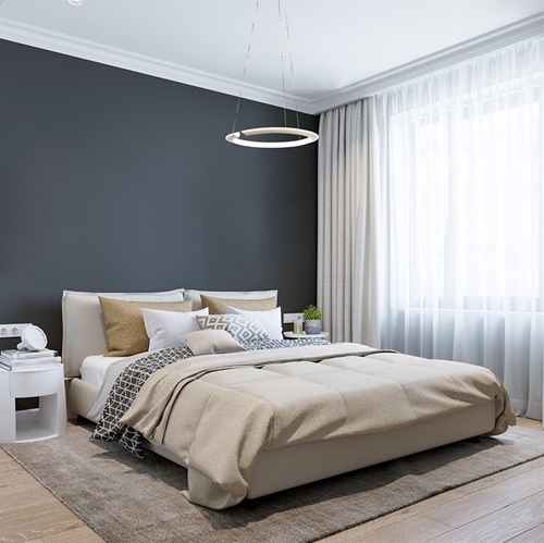 Moderne hanglamp nikkel met geïntegreerd LED