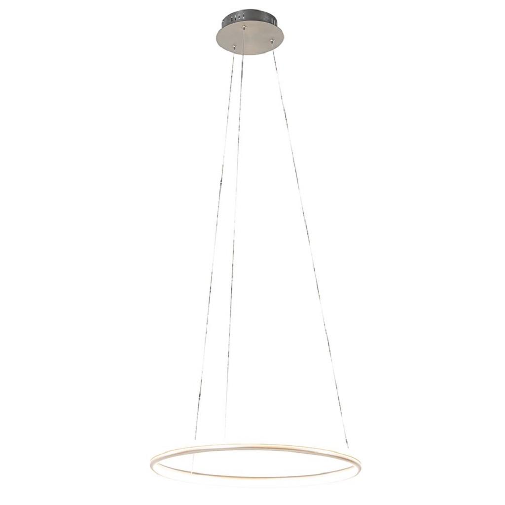 LED hanglamp ring 50 cm nikkel