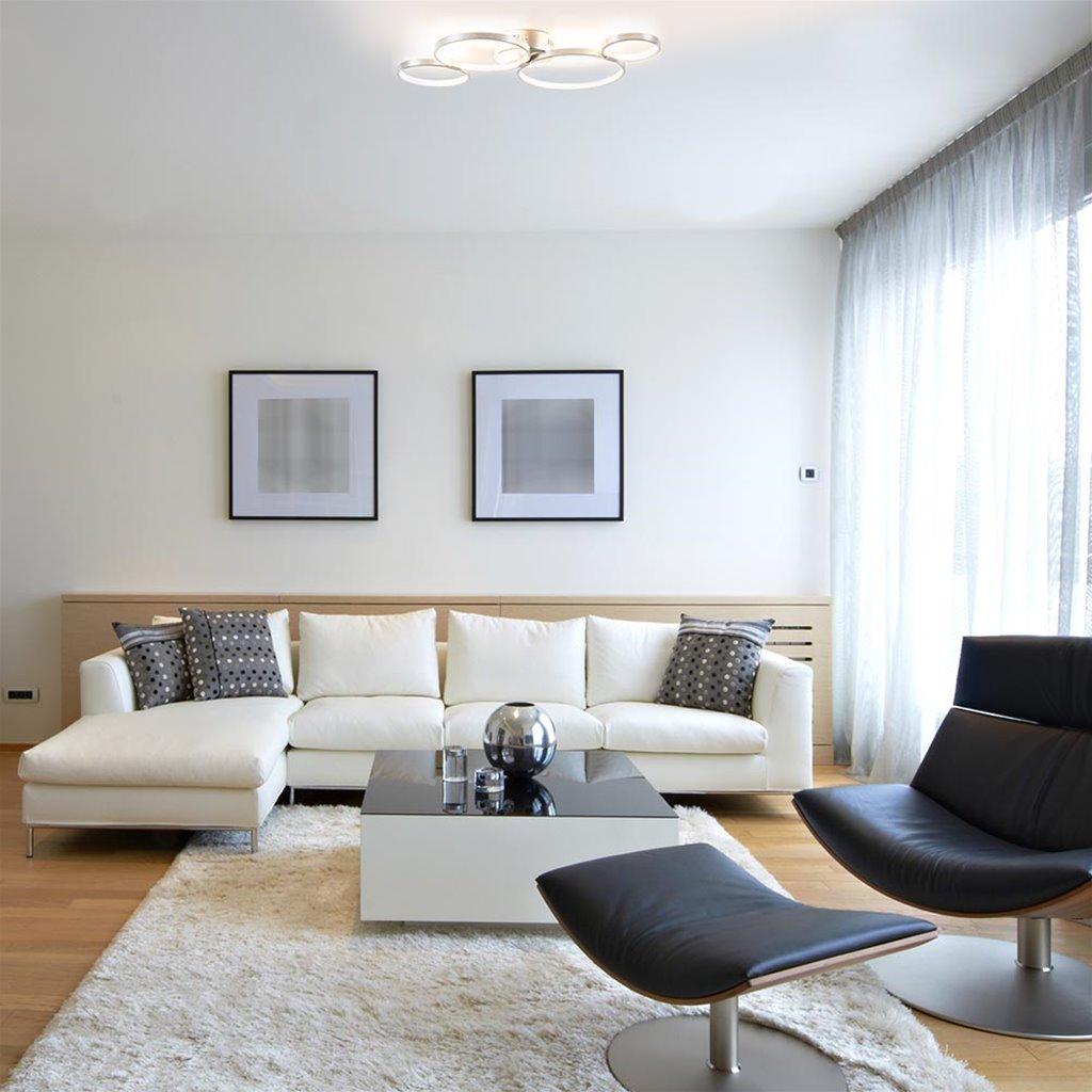 3-Standen dimbare LED plafondlamp nikkel