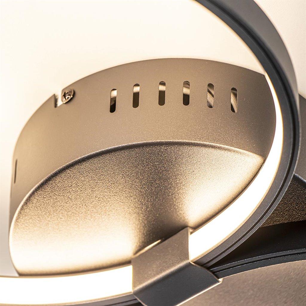 Moderne plafondlamp LED ringen zwart dimbaar