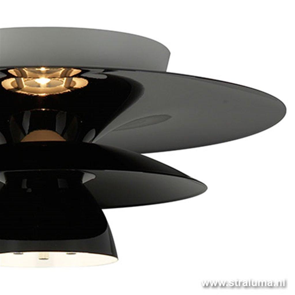 Design plafondlamp zwart woon/slaapka
