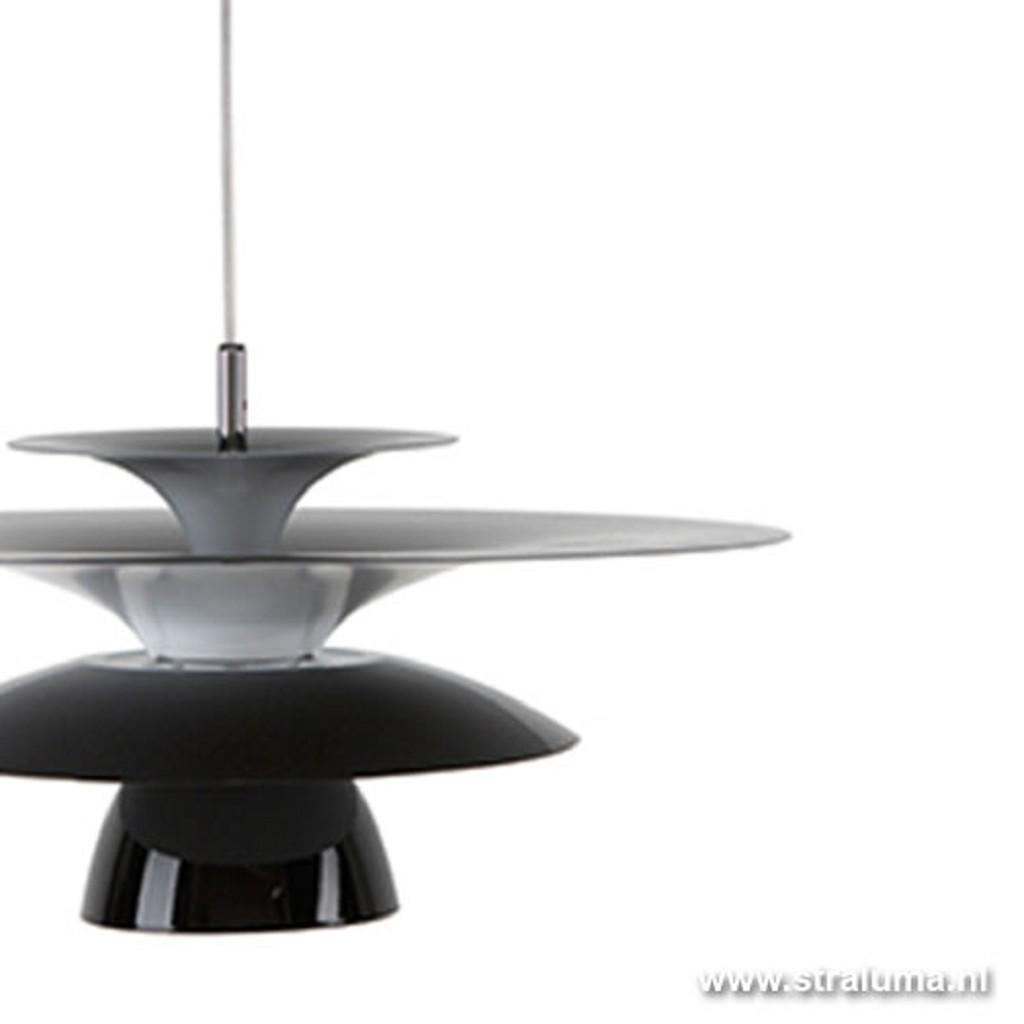 Moderne hanglamp design zwart schotel
