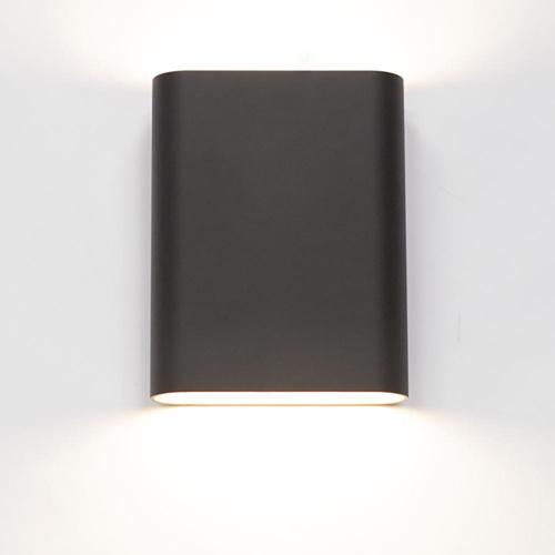 Wandlamp zwart/goud ovaal dimbaar