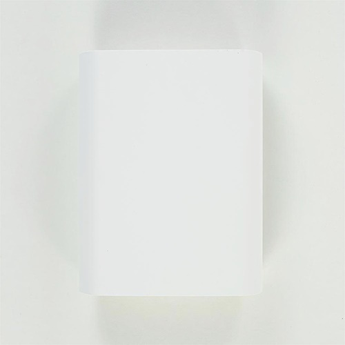 Wandlamp ovaal wit/goud