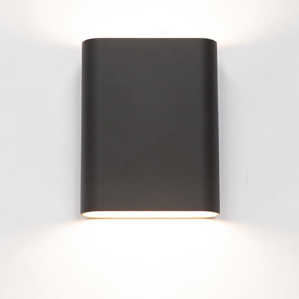 Wandlamp zwart/goud ovaal